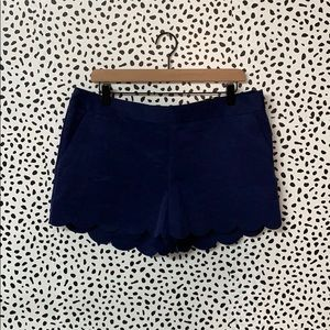 NWT Express Scalloped Blue Shorts